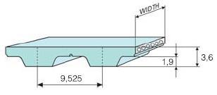 Ремень зубчатый L полиуретановый