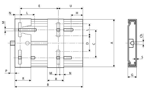 Салазки для электродвигателей