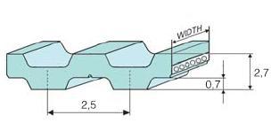 Зубчатый ремень T2,5-DL или DT2,5