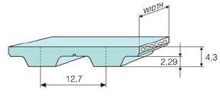 Ремень зубчатый H полиуретановый