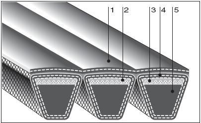 Конструкция много ручейковых ремней