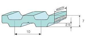 Зубчатый ремень T10-DL или DT10