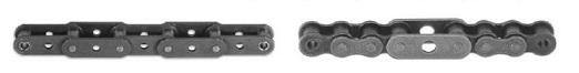 Длиннозвенные роликовые цепи с прямыми пластинами и отверстиями в пластинах
