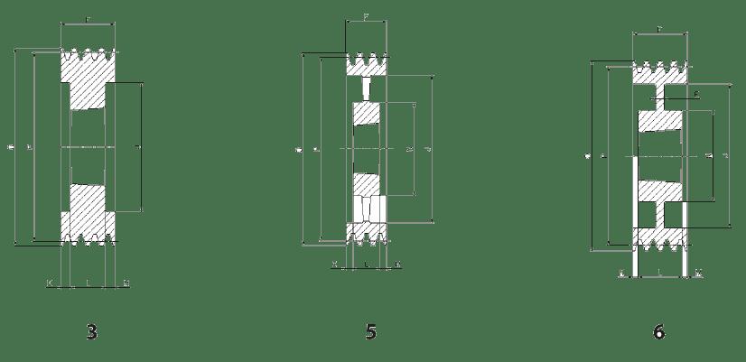 Шкив SPB-6 эскиз