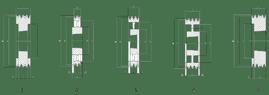 Шкив SPB-5 эскиз