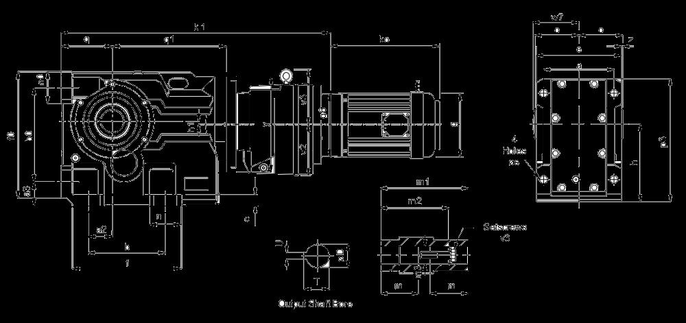 Пятиступенчатый конически-цилиндрический мотор-редуктор