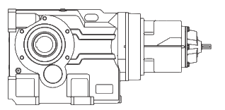 Пятиступенчатый редуктор конически-цилиндрический на лапах