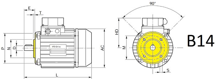 Электродвигатели B14