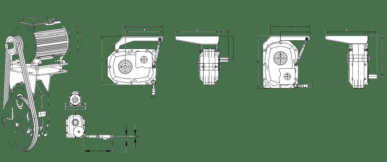 Benzlers серия J - навесной цилиндрический редуктор