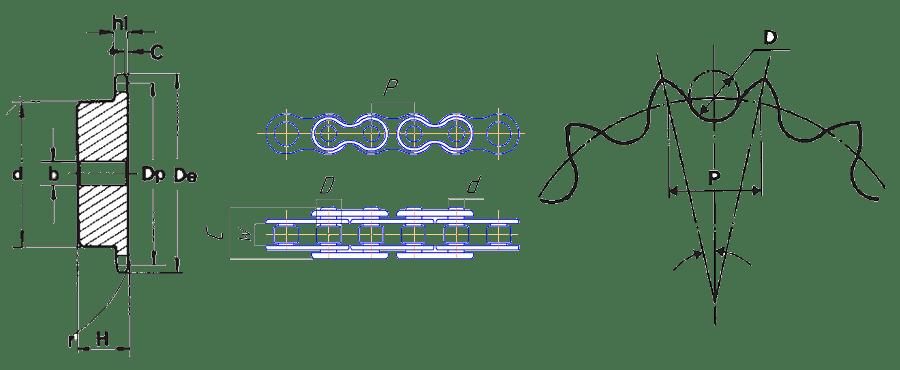 Звездочки цепей - разница в стандартах