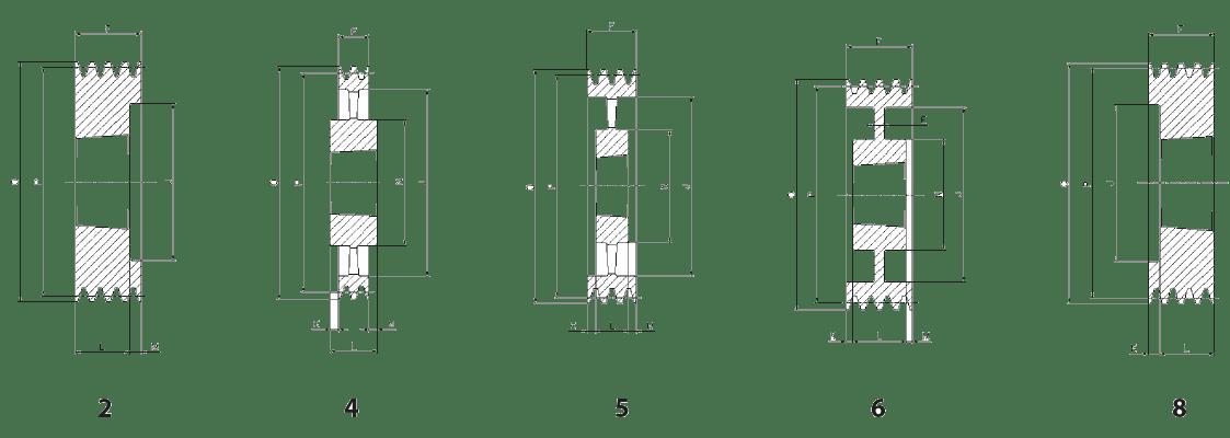 Шкив SPA-4 эскиз