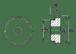 Шестерня модуль 1, 1.5, 2