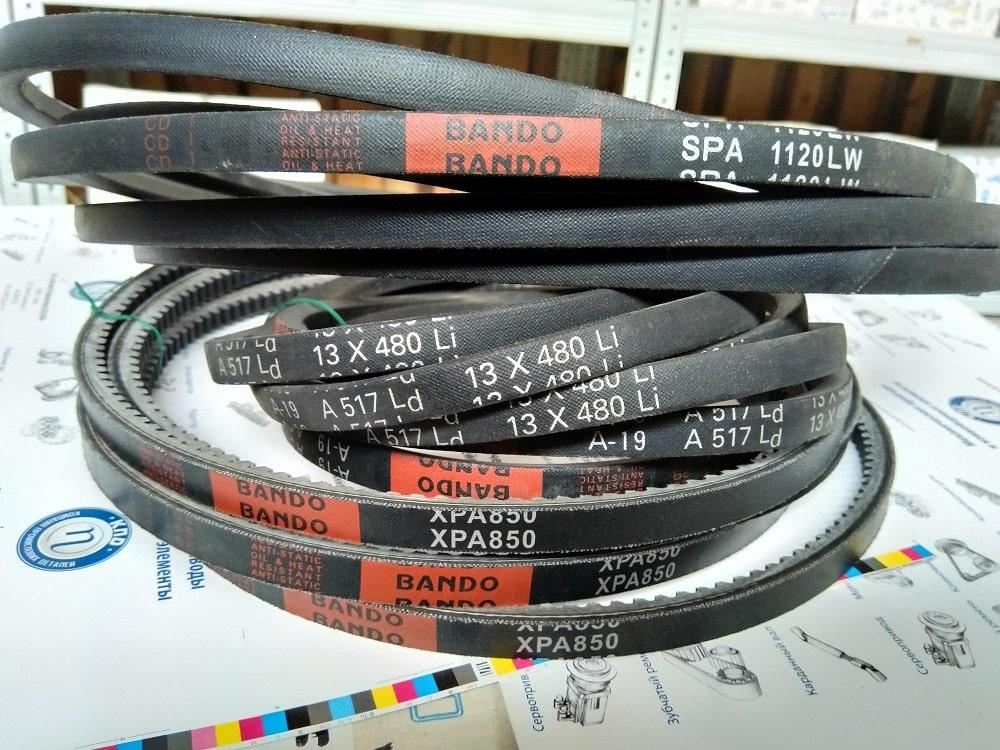 Шкивы SPA/2 - применяемые ремни