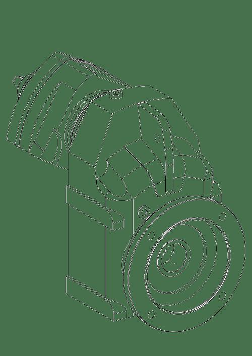 Цилиндрический мотор-редуктор