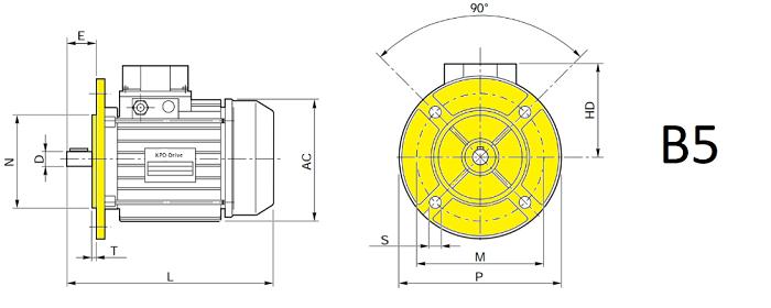 Электродвигатели B5