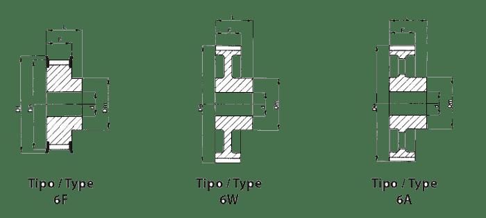 Эскиз шкива Т20