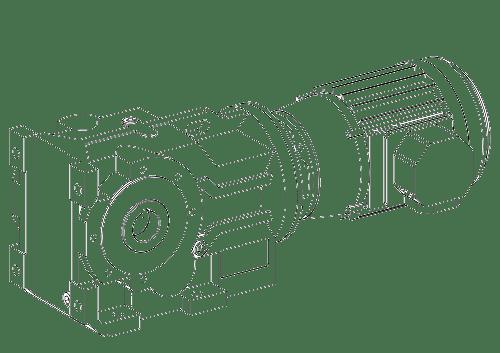 конически-цилиндрический мотор-редуктор