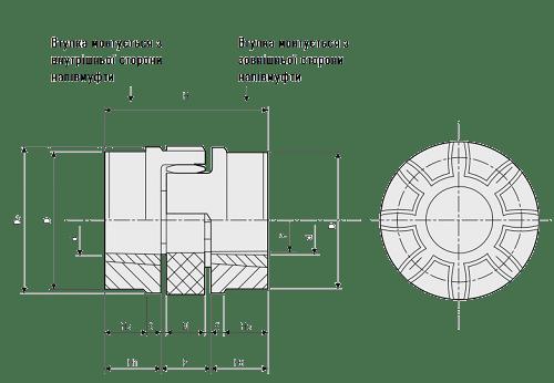 Кулачковая муфта X-Flex под монтажную втулку