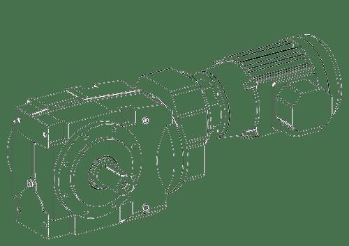 Цилиндрическо-червячный мотор-редуктор