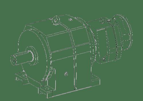 Соосный редуктор мотор-редуктора
