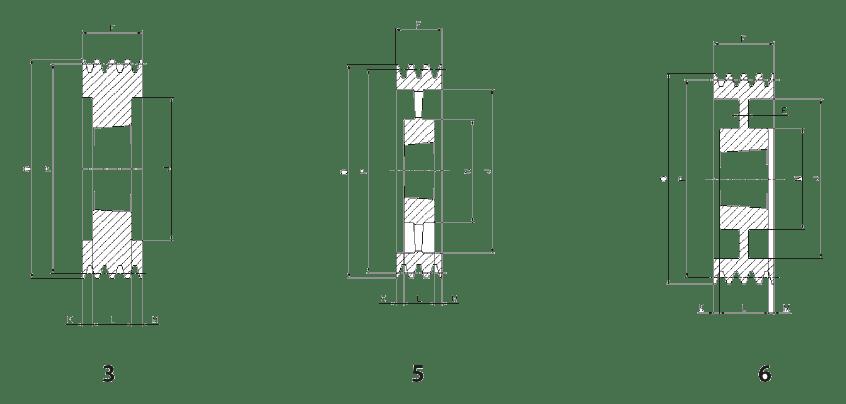 Шкив SPC/8 - эскиз