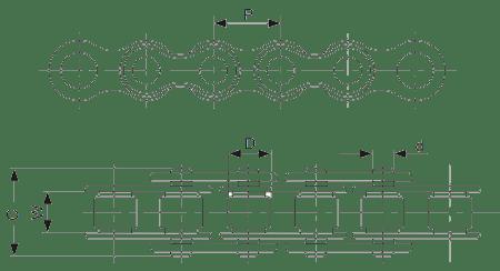 Усиленные цепи американской серии по стандарту ASA ANSI B 29,1 ISO/R 606 DIN 8188