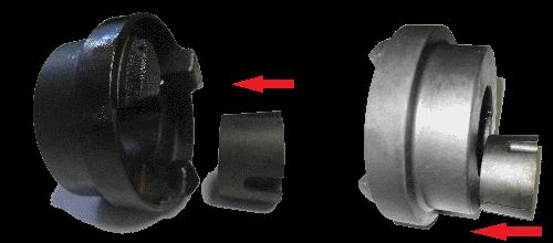 Упругая муфта HRC - внешний и внутренний монтаж