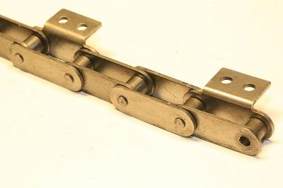 Роликовая цепь с крепежными пластинами