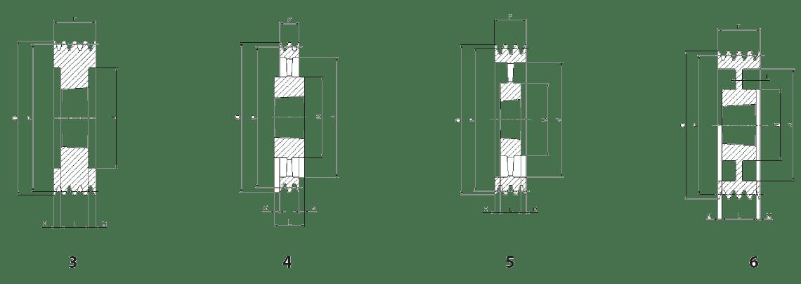 Шкив SPC/4 - эскиз