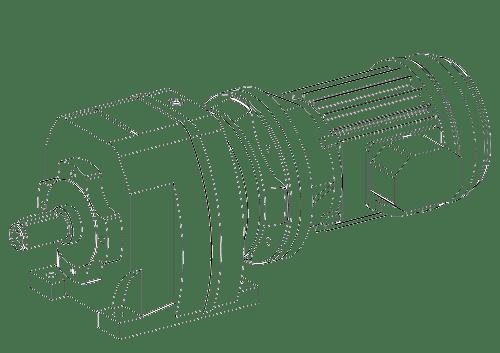 Соосный мотор-редуктор