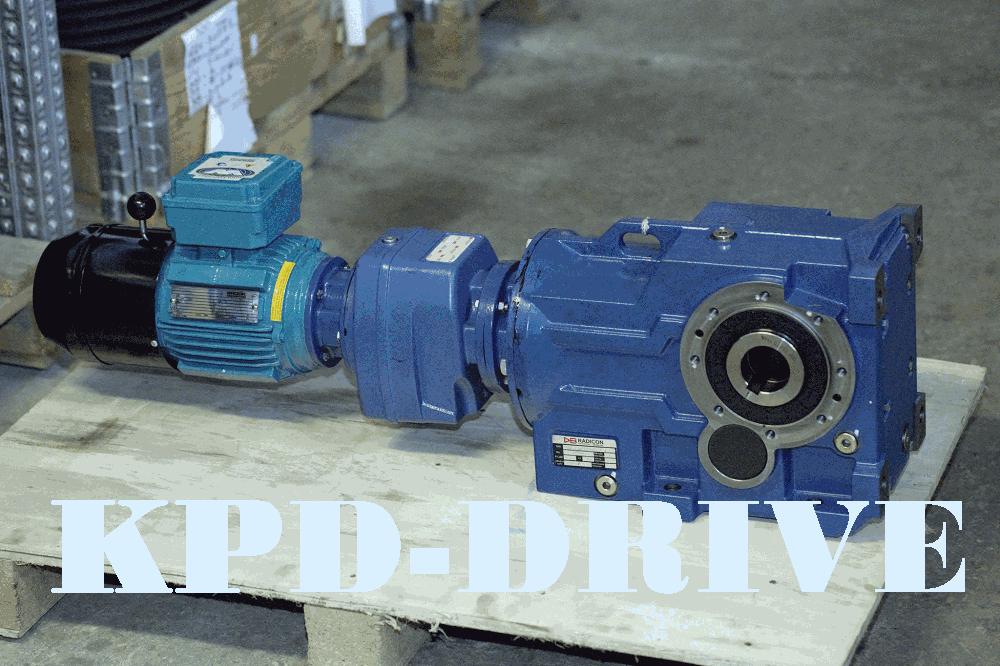 Коническо-цилиндрические мотор-редуктор с тормозом