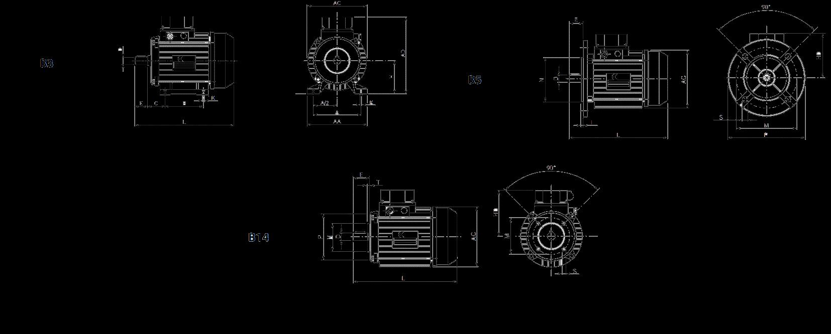 Асинхронный двигатель Sati