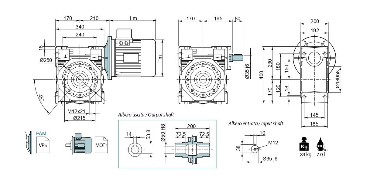 Червячный редуктор NMRV 150